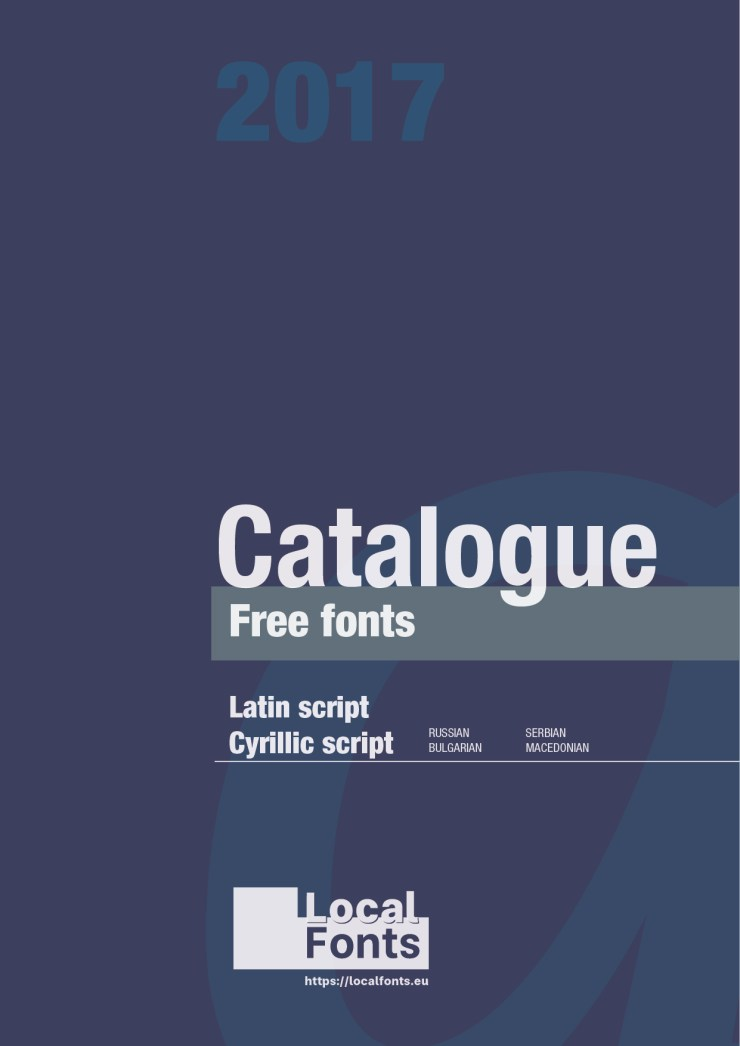 Catalogue Free Fonts