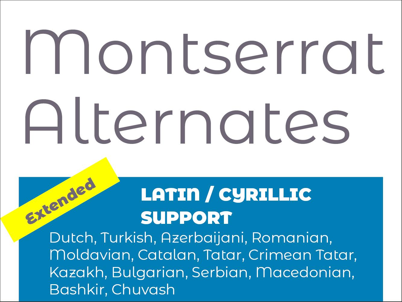 Montserrat Alternates