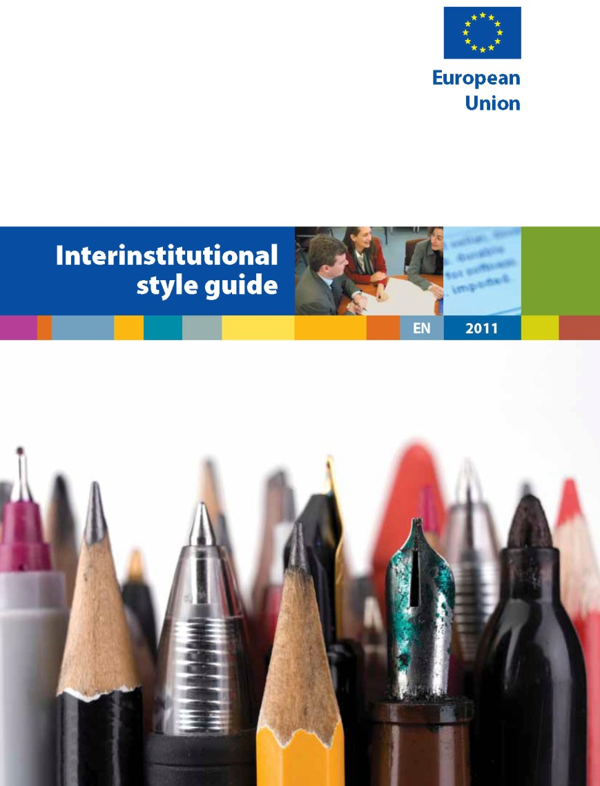 EU publications: Interinstitutional style guide 2011