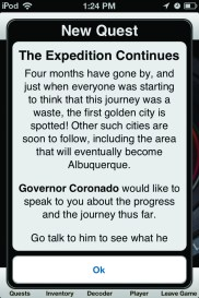 Screenshot: Quests like these helped players situate themselves in the story and keep track of the details.