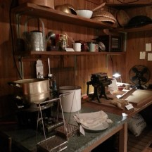 Replica of the original kitchen where instant noodle was born. Nissin cup noodle museum