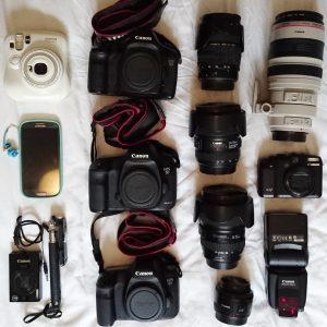 Camera, gadgets, photos