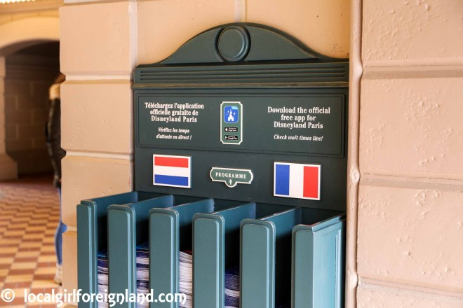 Park maps, disneyland Paris