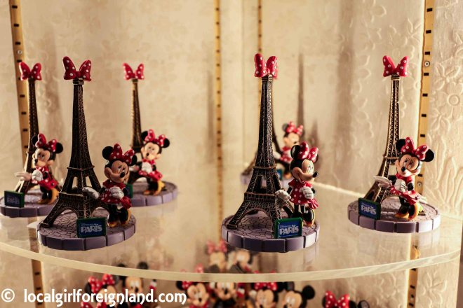 Eiffel Tower merchandise. Disneyland Paris