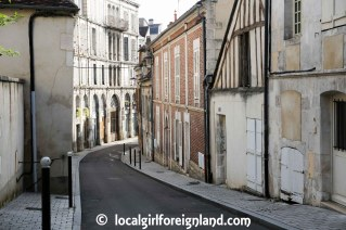 street of Auxerre, Burgundy, France
