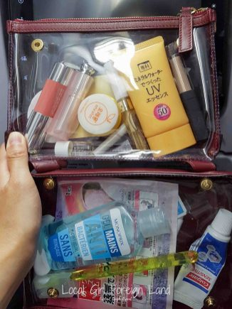 Carry-on toiletries