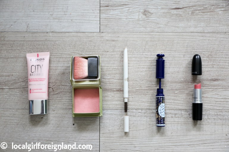 bourjois foundation, benefit, majorlica majorca, mac, makeup