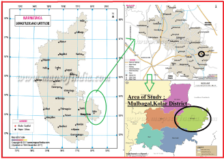 Our work location: Mulbagal Taluk Panchayat (Kolar District) (Source of Images: Maps of India website)