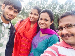 Local governance team ( Sanjay, Sree Harica, Naveena and Vikash -From left to right)