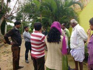 Discussing Water and Sanitation related issues with Village Panchayat Council members in Jangalahalli