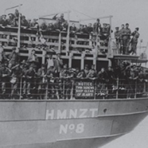 Soldiers on ship – circa 1914.