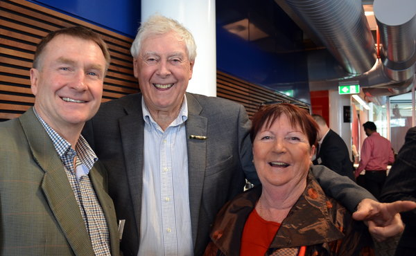Tom Warren (Waterfront Auckland), Sir Bob Harvey (Champion for Auckland – Overseas Investments) & Iris Donoghue (Keep Auckland Beautiful).