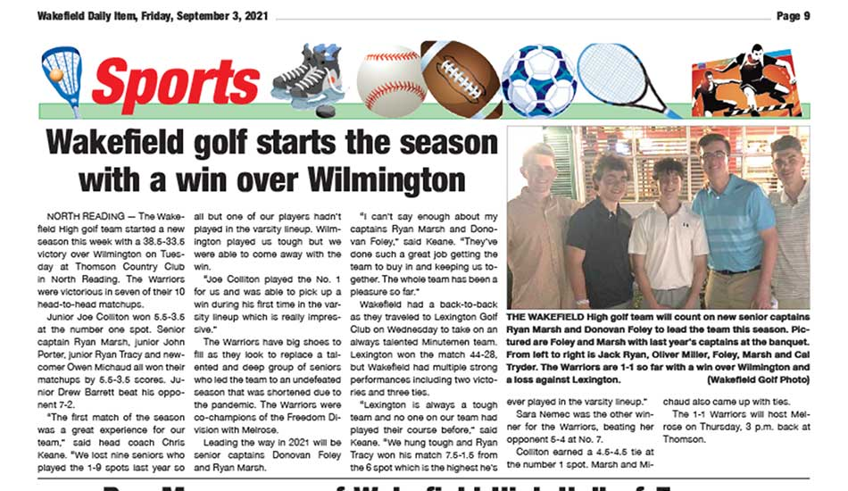 Sports Page: September 3, 2021