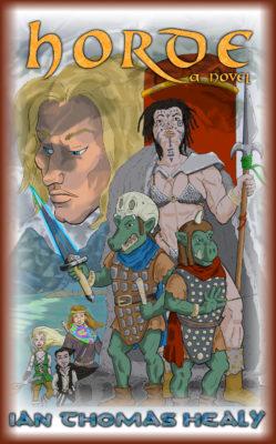 horde, fantasy, epic fantasy, funny, humor, tolkien, middle earth, elves, hobbit, orcs, ian healy, ian thomas healy