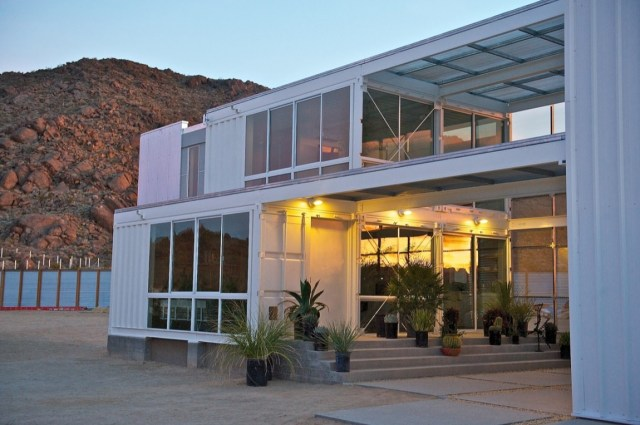 Ecotech Design Shipping Container House in Mojave Desert