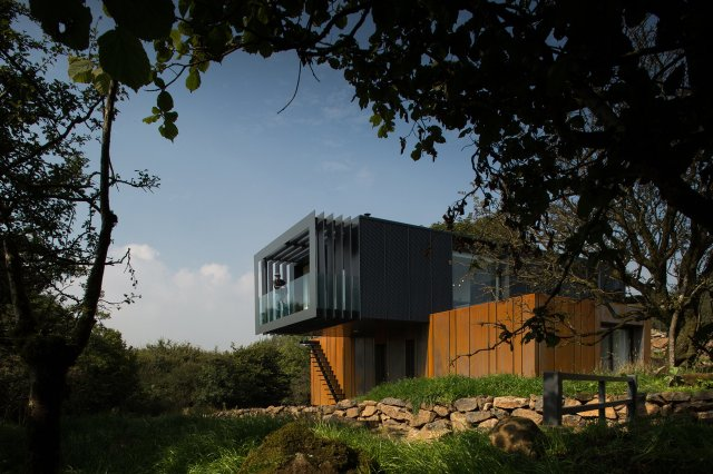 Patrick Bradley shipping container home Northern Ireland