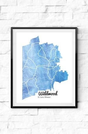 St. Louis Neighborhood Watercolor Maps