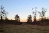 Knole, winter sundown