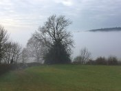 Ide Hill fog bank 2017