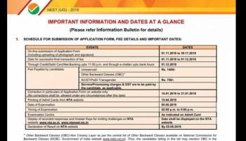 How to download NEET Admit Card 2019 from ntaneet.nic.in