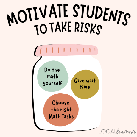 take risks in math