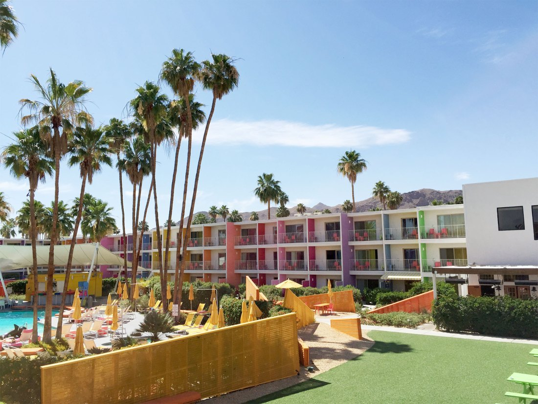 Pool Scene at Palm Springs Saguaro Hotel