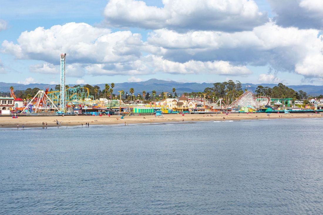 Colorful amusement park on the California Coast   Local Love and Wanderlust