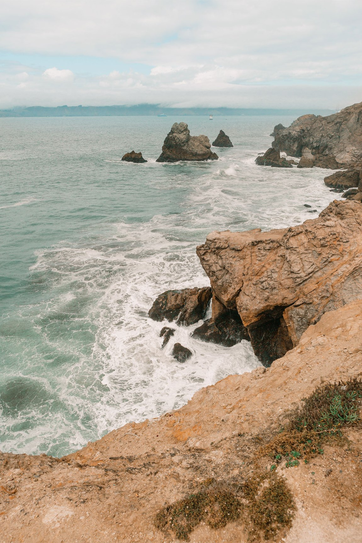 Historic Sutro Bath Ruins on the shore of San Francisco