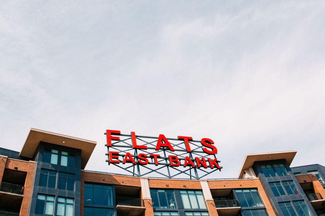 The Flats East Bank Sign