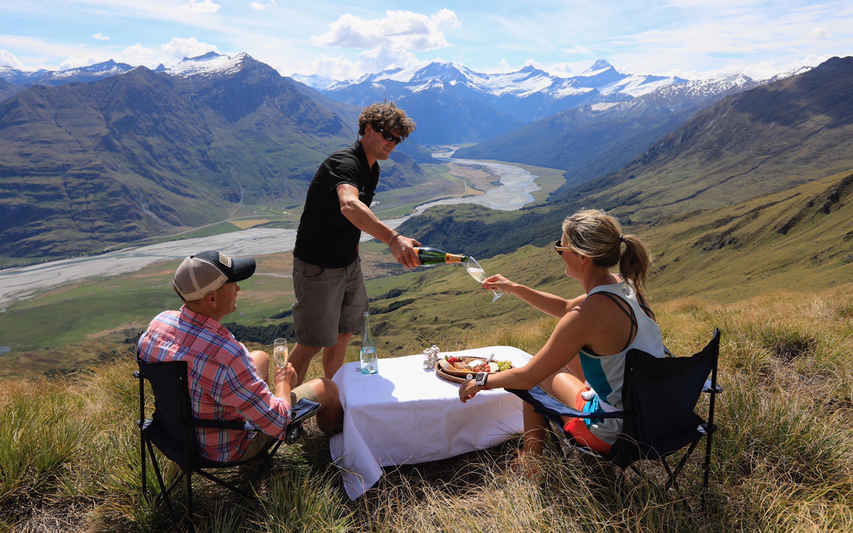 Champagne lunch in the mountains
