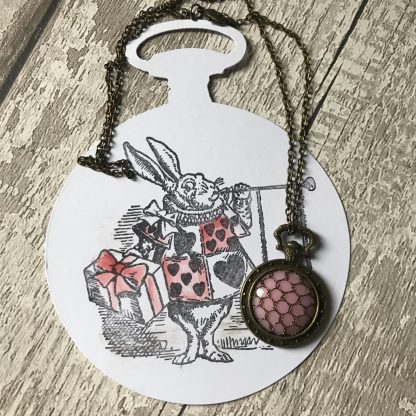 Alice's white rabbit - pink