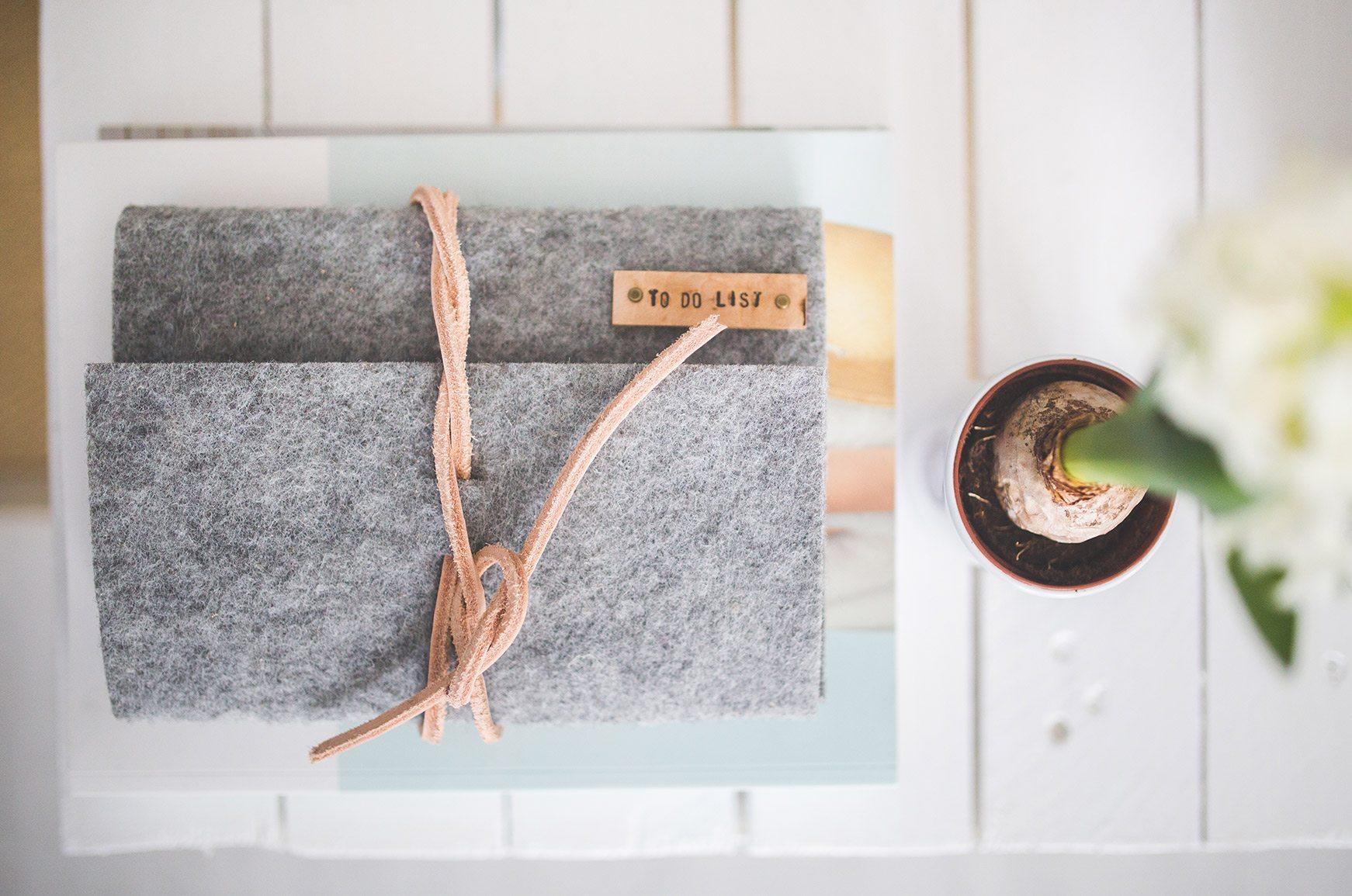 Organized Folder on White Desk