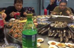 Massive steam-table seafood spread elicits excited exclamations - 52