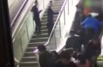 Crowded escalator in China shopping mall abruptly changes direction - 7