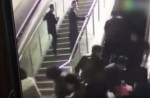 Crowded escalator in China shopping mall abruptly changes direction - 6