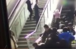Crowded escalator in China shopping mall abruptly changes direction - 9