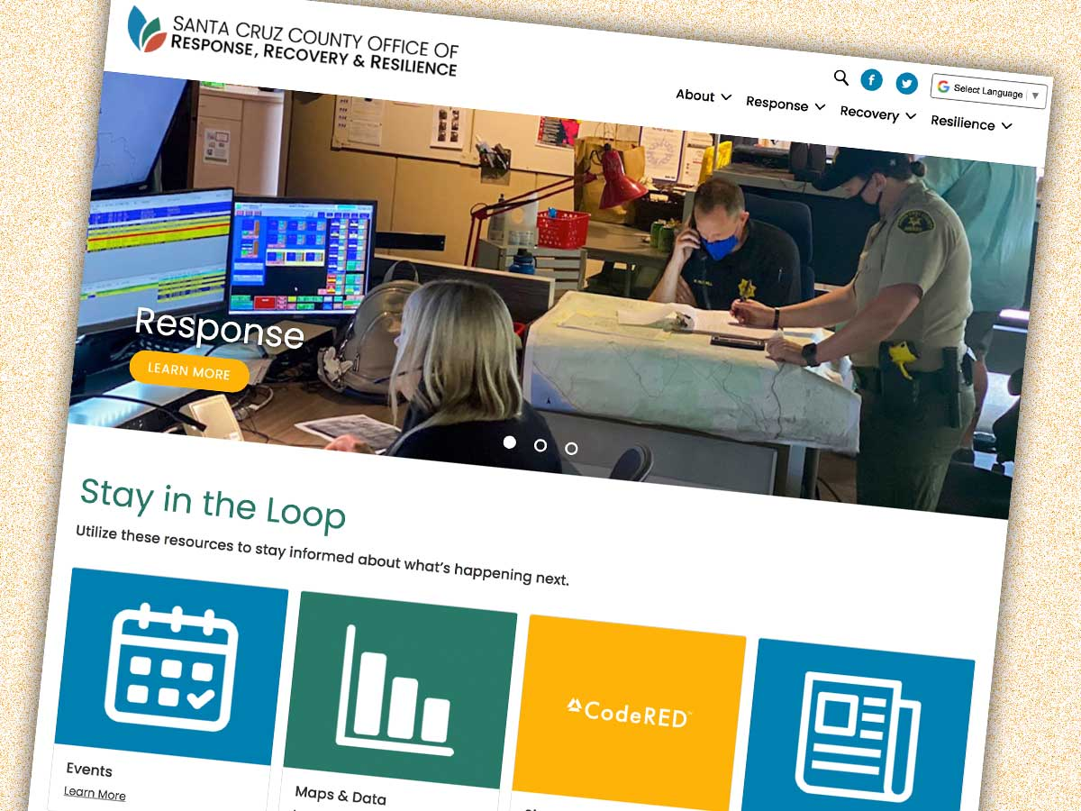 Santa Cruz County creates website to aid residents with emergency preparedness