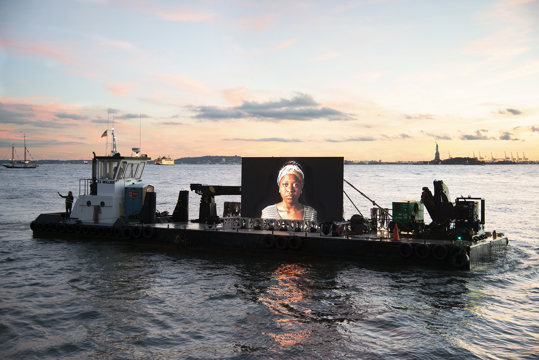 A view of refugees' humanity: 'Night Watch' art installation to glide along the San Francisco Bay shoreline