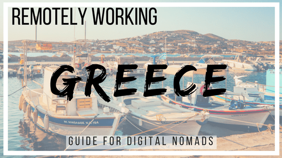 Remotely Working in Greece