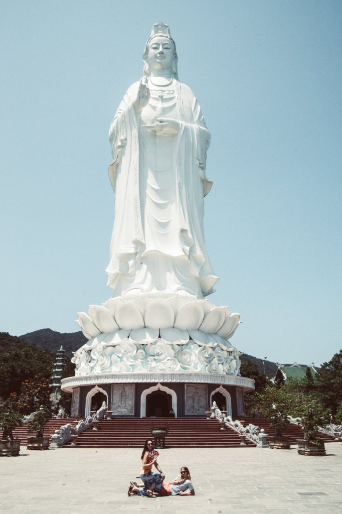 What to see in Da Nang. The Lady Buddha in Da Nang Vietnam