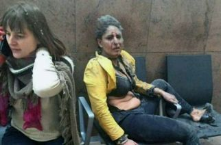 Andheri resident and Jet Airways crew member Nidhi Chapekar at Brussels airport after the blast.
