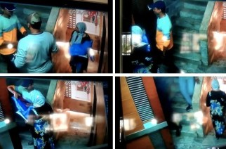 Screengrabs from the CCTV camera footage