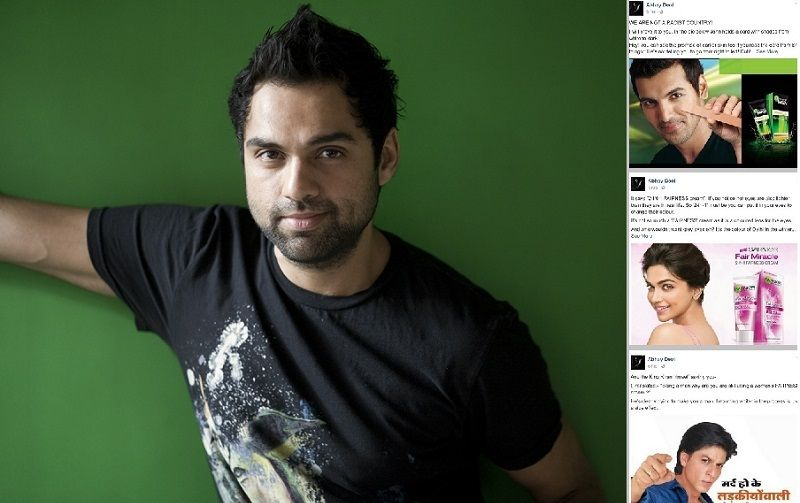 Abhay Deol mocks fairness cream ads, celebs who feature in them