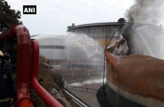 According to MbPT chairman, it will take another few hours for smouldering inside the tank to stop (Picture Courtesy: ANI)