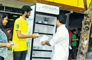 Public refrigerator in Kochi to help the homeless.