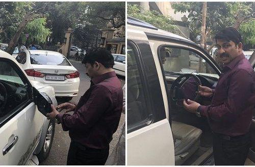 BJP MP and actor Manoj Tiwari's car vandalized for campaigning in Mumbai