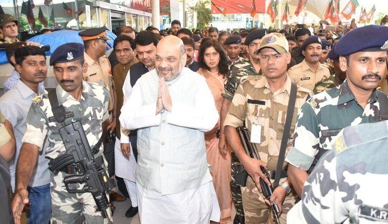 BJP president Amit Shah arrives in Mumbai, to meet Uddhav Thackeray during 3-day visit