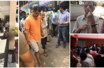 Voting for civic polls underway in Mumbai. Picture Courtesy: Rahul Rao, Ramesh Kadam