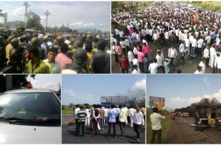Locals staging protests, torching vehicles & closing highways in Nashik