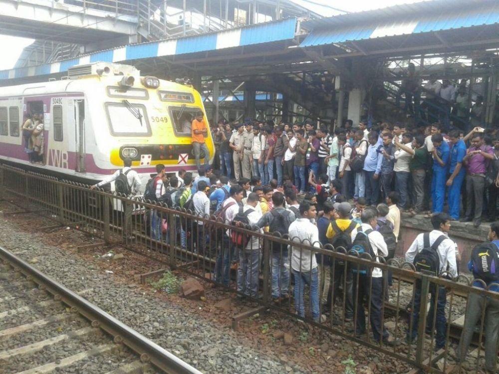 Commuters stage rail roko at Naigaon station: 60 services cancelled, many others delayed